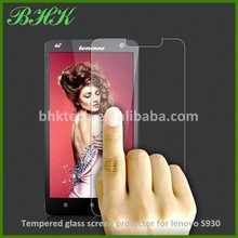 delicate touch 2.5D curved edge tempered glass screen protector for lenovo S930 , high quality screen protector