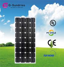 Home use mono photovoltaic best 12v 100w solar panel price