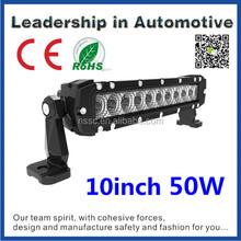 China factory direct Tuning lights 10inch 5w cree single row mini light bar 12v