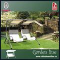 swi00104 الباحة الصلب حديقة مقعد الأرجوحة مع اثنين من مقعد واحد، أثاث الحدائق