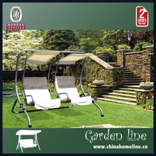 SWI00104 Patio Steel Garden Swing Chair with Two Single Seat, Garden Furniture