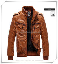 New Style Spring Men Slim Coat PU Leather Motorcycle Leather Jacket Overcoat