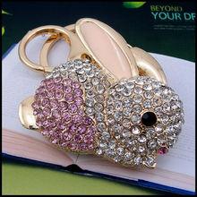 la parte superior 2014 venta nuevo estilo encantador conejo llavero regalos
