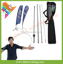 Factory teardrop and feather flag fiber glass top for flagpole