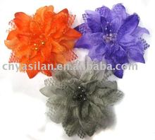 5'' Pearl lace Lily flower for girl hair band, baby headbands, YL01172