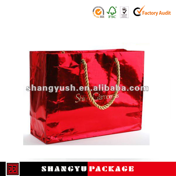 2015 printed kraft new customized paper gift bag