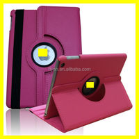 360 Degrees Rotating Stand PU Leather Smart Case Cover for Apple iPad Air / iPad 5 (With Automatic Wake/Sleep Function)