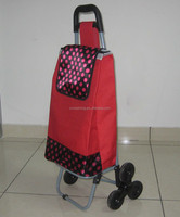 2015 the most popular stair climbing folding shopping trolley, shopping cart, shopping trolley bag