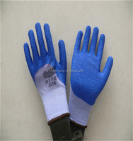 10Gauge Colored Cotton Lined Crinkle Latex Coated Industrial Safety Work Gloves, Construction Gloves