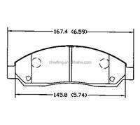 Cheap brakes D1039 18047054 for CHEVROLET TRUCK GMC TRUCK ISUZU front truck brakes