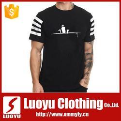 Newest custom design fashion T-shirt cotton fabric with silkscreen print T-shirt
