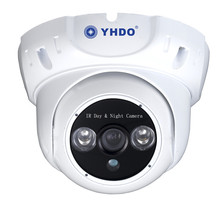 YHDO Two Array Leds IP66 2.0MP HD-CVI Metal Dome Camera Transmission Distance Over 500m via 75-3 Coaxial Cable