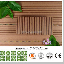 Cheap Outdoor FloorWpc Solid Decking With Grooves For Outdoor