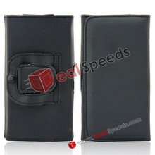 Universal Leather Pouch Holster Cover for BlackBerry Torch 9800 with Belt Clip