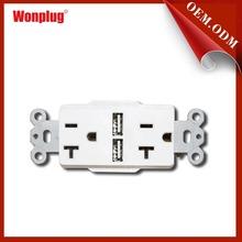 2014 WONPLUG newest 5V/2.1A Us Usb Wall Socket