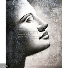 Handmade Modern Abstract Art Holy Buddha Face oil painting on canvas, Buddha Sculpture, II