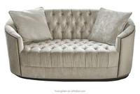foshan furniture modern design cheap 2 seater velvet silver chesterfield sofa