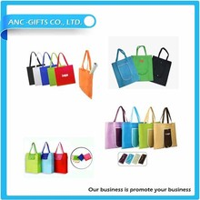 logo printed promotional foldable shopping tote bag