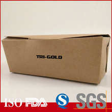 Highly quality single PE Customized disposable Hot dogs box