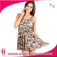 Factory Price fashion bug printed dresses