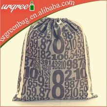 Grey Popular Drawstring Bag Cotton For Teenager