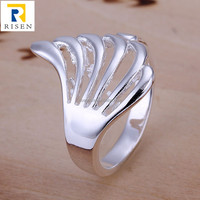 unique design angel wings silver ring R118