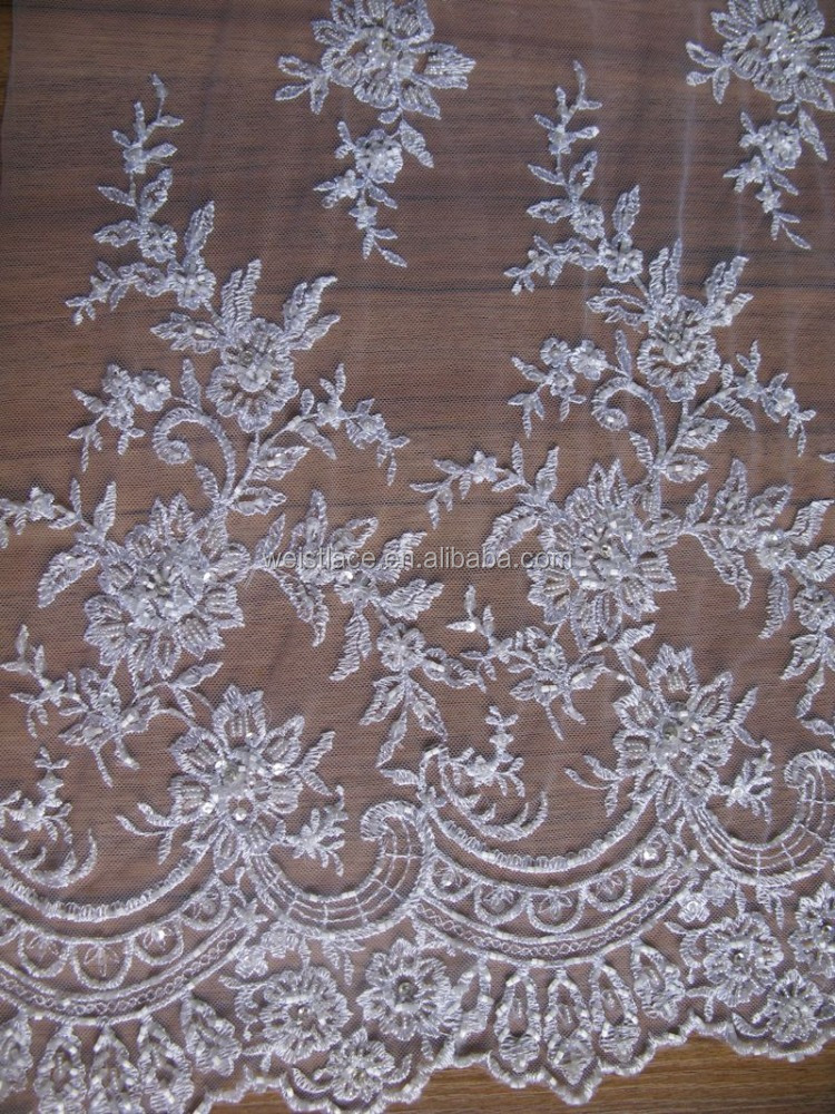 African beaded george fabric heavy lace