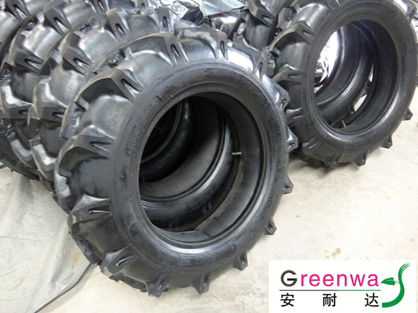 Japanese Tractor Tires : Rice paddy tractor tires bias view