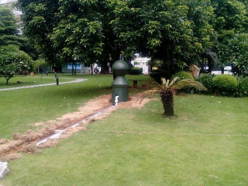Backwash no noice fish pond biological filter buy fish for Garden pond no filter