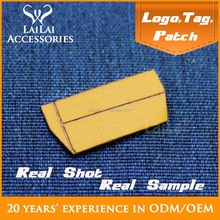 Long shaped custom jeans label logo and sticker