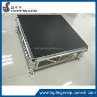 rental stage folding aluminum used portable church stage
