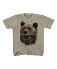 2015 Summer Hot Sale Children Boys T-Shirt Khaki Grizzly Bear Tee Cotton Shirt - Toddler & Kids Clothes Z-BT80812-19