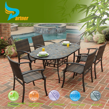 Outdoor Furniture Mexico Oval Table and Chair Set Rattan Dining Set Wicker Outdoor Ffurniture Western Australia