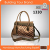 1330 2015 New Style,PU with Zebra Fur Quality,Ladies Fur Bags,Handbags
