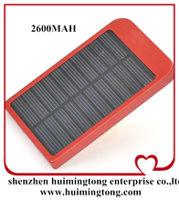 Factory direct solar charger P1100 2600MAH solar mobile phone charger energy saving