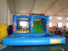 Hot sale tropical commercial inflatable water slide from Ultimate Inflatables