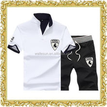 Best selling factory plain color knitted fabric sport pants