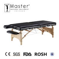 Master 32'' wooden portable foldable folding massage table couch bed (NanoSkin Upholstery)
