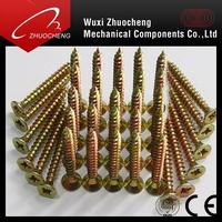 High quality yellow zinc plated chipboard screw for MAKITA, Dewalt, Bosch, HILTI