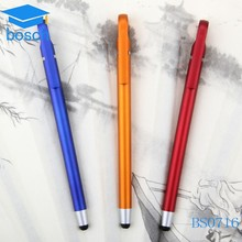 Multi-functional plastic ball pen tounch pen with logo