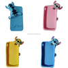 Stitch cell phone case 3D cute cartoon monster mobile phone silicone case For iPhone4/4s/5/5s/6/6 plus Factory Wholesale