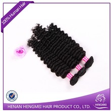 Export high quality wholesale deep wave brazilian human hair