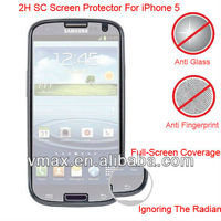 2H mobile phone screen protector for Samsung galaxy s3 i9300(SC)