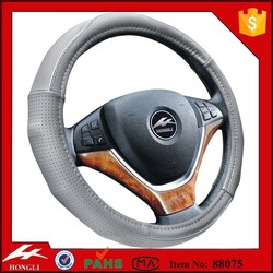 HL 88075 good quality leather steering wheel covers microfiber pu leather car steering wheel cover