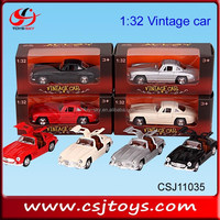 New product 1:32 Classic Metal Car model Alloy Gran Torino Old Style wholesale Diecast Vintage car