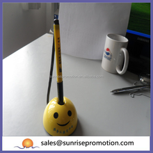 Yellow cheap smile desk pen