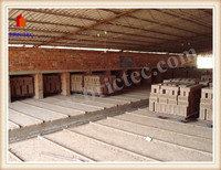 Red clay brick automatic production line with brick dryer