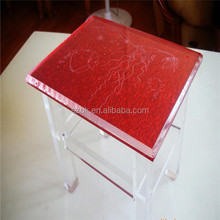 Nice looking high lucite square acrylic stool from china