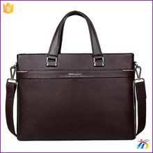 Popular brown briefcase genuine leather bags for men