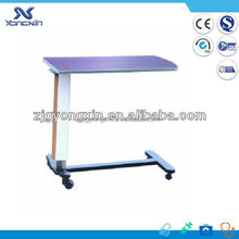 hospital movable overbed dinner food table for patient high quality best price (YXZ-023)